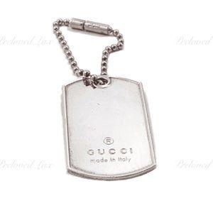 Authentic Gucci 925 Silver Dog Tag Pendant